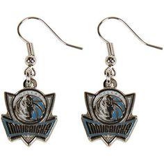 Dallas Mavericks Womens Team Logo Dangle Earrings