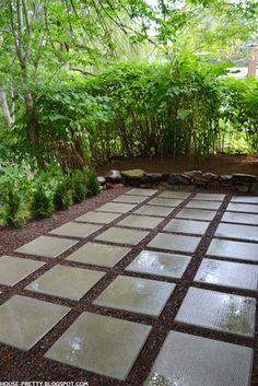 9 diy cool creative patio flooring ideas patios tutorials and concrete paver patio with gravel diy patiopatio ideasbackyard solutioingenieria Images