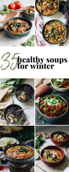 The ultimate healthy soup round-up! 35 Healthy and Delicious Soup Recipes to Keep you warm all winter long! The Healthy Maven, Healthy Eating Habits, Healthy Eats, Clean Eating Recipes For Dinner, Clean Eating Meal Plan, Healthy Soup Recipes, Chili Recipes, Moroccan Lentil Soup, Detox Vegetable Soup