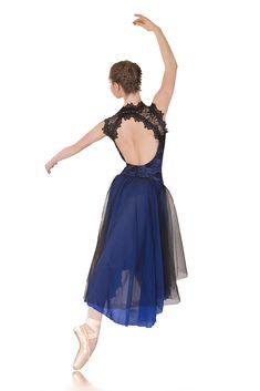 Lyrical Dance Costumes | Regal: Made to Order http://www.stageboutique.com.au/media/catalog/product/cache/1/image/9df78eab33525d08d6e5fb8d27136e95/r/e/regal_royal_blue_black_lace_lyrical_dress_beautiful_backline_dance_costumes_1l.jpg
