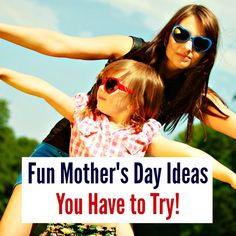 Fun Mother's Day Ideas You Have to Try! So creative!