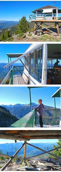 Fire Lookout in the Bitterroot Mountains Montana