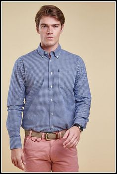 db003c62 Barbour Leonard Navy gingham shirt in Midnight MSH3334BL92 from Smyths  Country Sports