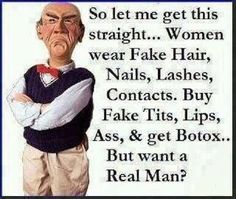 Want real man? :) / Walter by Jeff Dunham Thats The Way, That Way, Funny Cartoons, Funny Jokes, Sarcastic Humor, Funny Cartoon Pictures, Funny Photos, Twisted Humor, Adult Humor