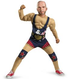 Buy costumes online like the TNA Impact Wrestling Kurt Angle Classic Child Costume from Australia's leading costume shop. Toddler Costumes, Boy Costumes, Halloween Costumes For Kids, Sports Costumes, Halloween Ideas, Sweatshirt Outfit, John Cena Costume, Wrestling Costumes, Kurt Angle