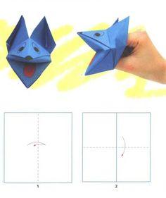 Поделка из бумаги, оригами - кусака