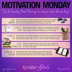 5 Tips For Sunday Meal Planning for Weight Loss Success | IgniteGirls® Fitness