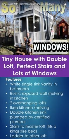 Tiny House Tour: Tiny House with Double Loft, Perfect Stairs and Lots of Windows | Tiny Quality Homes