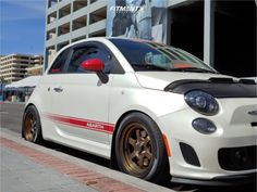 20 Wheels, Wheels And Tires, Fiat 500 Car, Tyre Fitting, Fiat Abarth, Led Headlights, My Ride, Rear Seat, Custom Cars