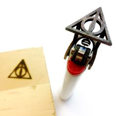 Deathly Hallows Bic Lighter Branding Iron - Only at NiqueGeek on Etsy!