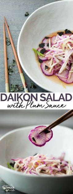 Daikon Salad - Daikon | Plum Sauce | Nori | Salad | Japanese Recipe
