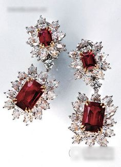 Diamond earrings & Ruby by Harry Winston                              …