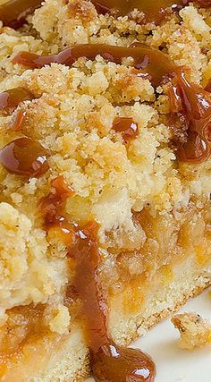 Caramel Apple Crumb Cake ~ This recipe is perfectly delicious... This Apple Cake with crumb mixture over the top and most amazing caramel glaze is ideal for every occasion!