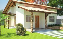 ProjetarCasas: Planta de Casas | Planta de casa; 2 quartos, varanda e cozinha americana - Cód 22