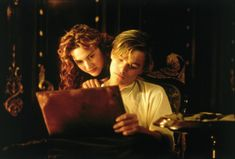 Kate Winslet and Leonardo DiCaprio in Titanic. Jack and Rose