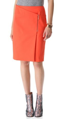 Cedric Charlier Zip Wrap Skirt