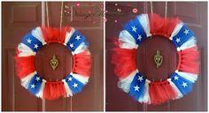 Tulle Confederate Flag Wreath