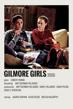 Alternative Minimalist Movie/Show Polaroid Poster - Gilmore Girls - Iconic Movie Posters, Minimal Movie Posters, Movie Poster Art, Iconic Movies, Good Movies, Diy Poster, Printable Poster, Retro Poster, Poster Wall