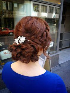 #bridalhair #bride #updo #weddinghair #braidupdo #hairdo #copperhair Copper Hair, Bridal Updo, Updos, Wedding Hairstyles, Dreadlocks, Bride, Hair Styles, Beauty, Fashion