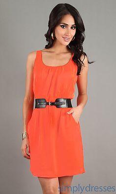 Short Sleeveless Casual Dress at SimplyDresses.com