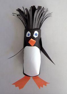 Penguin craft idea for kids | funnycrafts
