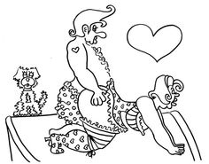 doggy style funny sexy coloring pages for adults from the chubby art cartoon colouring book for sex maniacs 50 kama sutra positions - Sexy Coloring Book