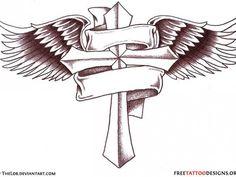 Irish Cross Tattoos for Men | Celtic And » Cross And Banner Tattoo Designs For Men Cross Tattoos ...