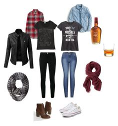 RockChick Fall/Spring 17 by enciel11 on Polyvore featuring Mode, J.Crew, Rodeo Rags, Uniqlo, Frame, 2LUV, Timberland, Woolrich, Banana Republic and Schott Zwiesel