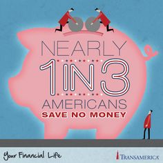 Nearly 1 in 3 Americans save no money.