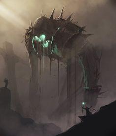 Art about fantasy, steampunk, comics, sci-fi and other lands of dreams. Dark Fantasy Art, Fantasy Artwork, Fantasy Kunst, Fantasy Rpg, Fantasy World, Dark Artwork, Arte Horror, Horror Art, Monster Concept Art