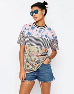 ASOS T-Shirt In Mix And Match Print