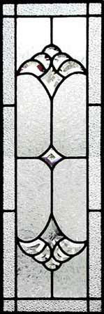 ZOOM to custom leaded glass sidelight bevel window