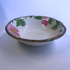 Vintage Franciscan Desert Rose Berry Sauce Bowl Made in England 5-3/4"