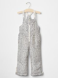 #BabyGap PrimaLoft&#174 Eco bib snow pants. Oh yea!!! Animal print snow pants for my girl. I don't want to think about it but winter is around the corner