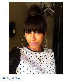 Hair bun with bangs bun hairstyles keri hilson hairstyles bun and