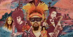 """Brasilian musicians"" © Maël Boutin - 75 x 39 x 2 cm - Técnicas mistas sobre tela - 2013"