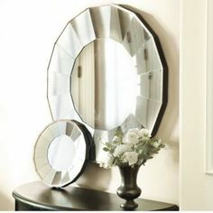 Bellesol Mirror | Concave Sunburst Mirror | 16 Antiqued Mirror Panels | - Getting this for my dining room!