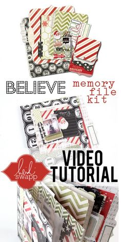 Love this Memory File bound mini book by Heidi Swapp on My Craft Channel using HS Believe Memory File kits.