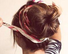scarf in hair