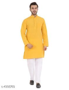 Kurtas Elite Designer Men's Kurtas Fabric: Khadi Cotton Sleeve Length: Long Sleeves Pattern: Solid Combo of: Single Sizes:  S (Bust Size: 40 in Length Size: 38 in Waist Size: 42 in)  XL (Bust Size: 46 in Length Size: 42 in Waist Size: 48 in)  L (Bust Size: 44 in Length Size: 40 in Waist Size: 44 in)  M (Bust Size: 42 in Length Size: 40 in Waist Size: 42 in)  XXL (Bust Size: 48 in Length Size: 43 in Waist Size: 50 in)  XXXL (Bust Size: 52 in Length Size: 44 in Waist Size: 54 in) Country of Origin: India Sizes Available: S, M, L, XL, XXL, XXXL   Catalog Rating: ★3.9 (446)  Catalog Name: Elite Designer Men'S Kurtas CatalogID_617815 C66-SC1200 Code: 803-4308769-507