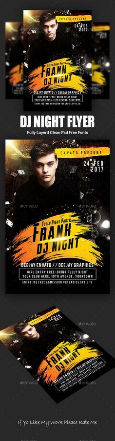 DJ #Night #Flyer - #Events Flyers Download here: https://graphicriver.net/item/dj-night-flyer/19456570?ref=alena994