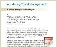 Talent Management White Paper by Dale Carnegie Training - Download Free