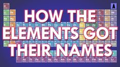 Science: How The Elements Got Their Names #periodictable #science #chemistry