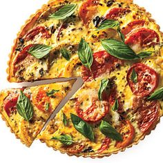Tomato Tart | MyRecipes.com  Yum, served it with sauteed balsamic spinach and paired with a delicious Bernardus Saignee de Pinot Noir.  I didn't have fontina, so I used Italian cheese mix from TJs, plus red oninon instead of shallots