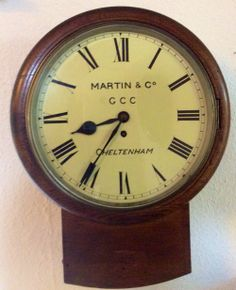 19th Century Oak Cased Wall Clock from sellingantiques.co.uk