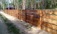 Drewniane Ogrodzenie Rancho Poziome Deski Gostynin - image 3