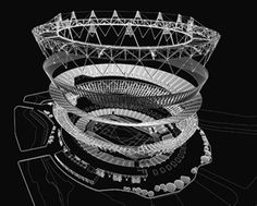 exhibition › Stadia: Sport and Vision in Architecture in Sir John Soane's museum until Olympic Stadium London, Beijing National Stadium, Architecture Drawings, Architecture Design, Stadium Architecture, Sports Stadium, Icon Design, Olympics, Olympic Venues