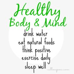 Healthy Body & a Healthy Mind! Check out our new @Pinterest board! #LivingHealthy