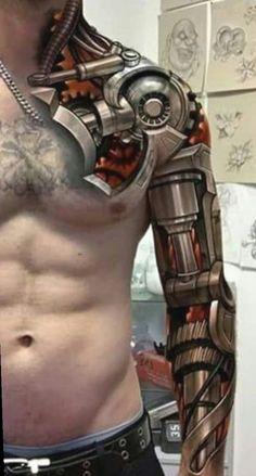 Top 80 Best BioMechanical Tattoos for Men tattoo designs 2019 - Tattoo designs - Dessins de tatouage Dope Tattoos, Badass Tattoos, Tattoos For Guys, Tatoos Men, Funny Tattoos, Insane Tattoos, Mens Tattoos, Suits And Tattoos, Flame Tattoos