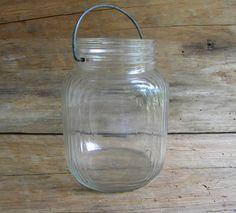 Vintage Duraglas Jar with Metal Handle by SweetBasilsCupboard, $15.00